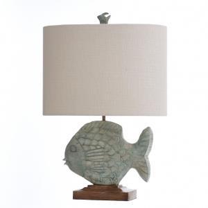 One Light Ocean Blue Table Lamp