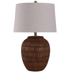 Stoneside - One Light Fired Ceramic Table Lamp