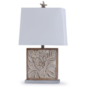 Bialy Pine - One Light Carved Fawna Table Lamp with Starfish Finial