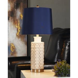 27 Inch One Light Textured Table Lamp
