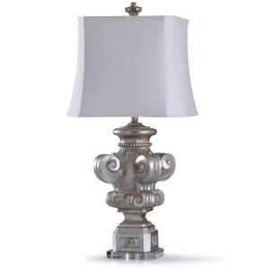 Vedal - One Light Carved Four Corner Scroll Table Lamp