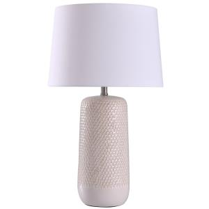 Galey - One Light Woven Wicker Textured Design Table Lamp