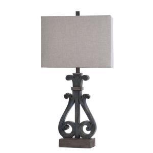 Brampton - One Light Open Scroll Table Lamp