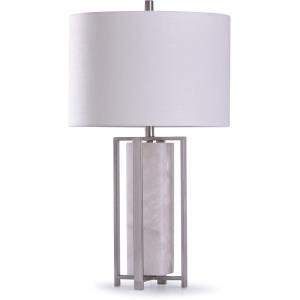 Abyaz - One Light Open Square Framed Table Lamp