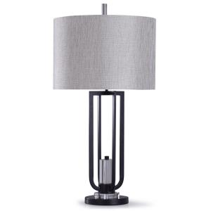 Haslemere - One Light Open Cradle Framed Table Lamp