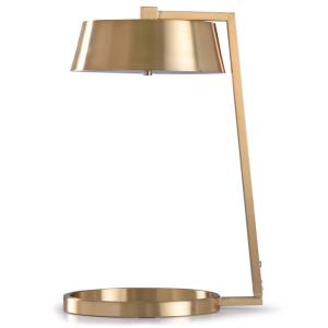 "Soft Gold - 21"" 12W 1 LED Table Lamp with Round Base"