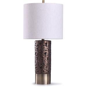 Chesham - One Light Floral Open Design Column Table Lamp
