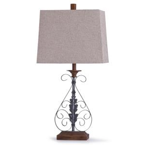 Bakewell - One Light Leaf And Scroll Table Lamp