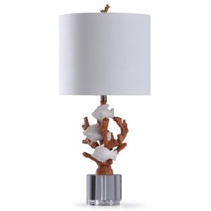 St. Ives - One Light Carved Coral And Fish Table Lamp