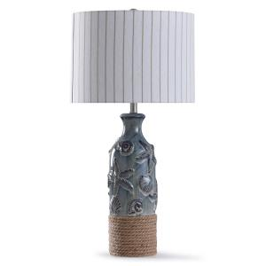 Bampton - One Light Embossed Shell And Starfish Table Lamp