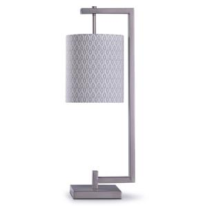 Beacon - One Light Table Lamp with Arm Hanging Cylinder Shade