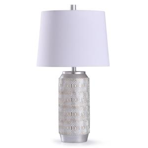 Dawley - One Light Diamond Etched Table Lamp