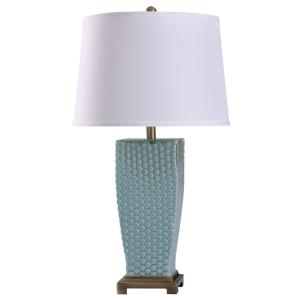 Sea - One Light Dimpled Glass Table Lamp
