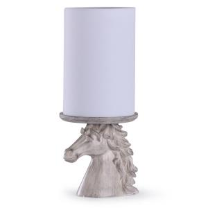 Prussia - One Light Carved Horse Head Uplight Lamp