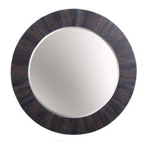 36 Inch Wood Frame Round Mirror