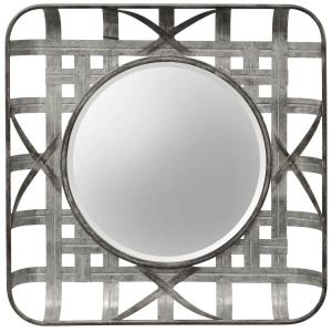 Metal Grid - 23.6 Inch Wall Mirror