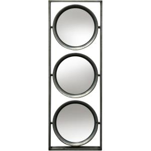 26 Inch Framed Metal Wall Mirror