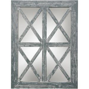 40 Inch Window Wood Mirror