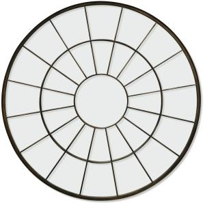 Windowpane - 40 Inch Traditional Round Wall Mirror