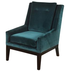 """Silk Road - 27"""" Lounge Chair with Semi-Attached Back Rest"""