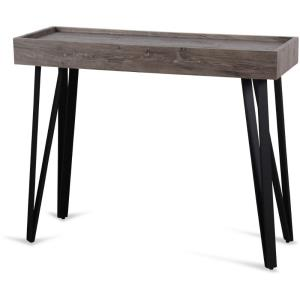 "39.4"" Rectangular Wood Console Table with Metal Hairpin Legs"