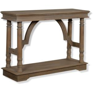 47 Inch Wood Trestle Console Table with Arch Detail