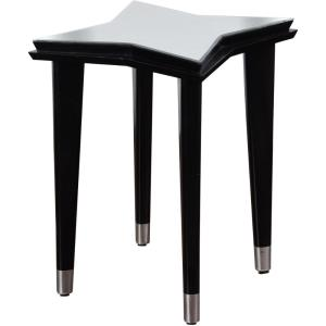 "Constellation Star - 22"" Mirrored Top 4 Leg Side Table"