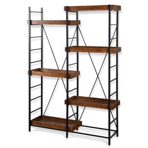 Tri - 50 Inch Industrial Bookcase