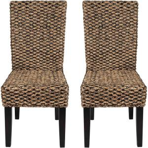 Water Hyacinth - 17.32 Inch Parson Chair (Set of 2)