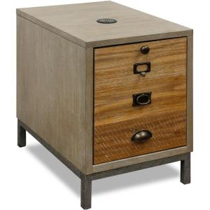 72 Inch Two Sheves, Single Door with Faux Drawer Fa+ade Chair Side Cabinet