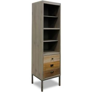 72 Inch Six Shelves and Faux Drawer Door Bookcase