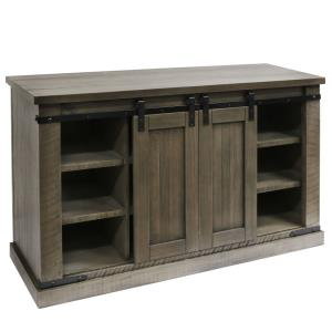 Peachtree - 52 Inch Sliding Barn Door Media Console with Removable Shelves