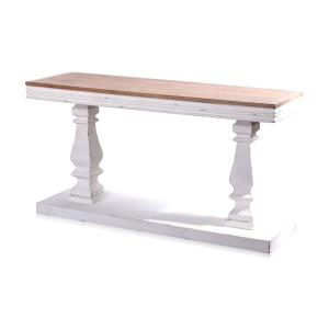 Abernathy - 59 Inch Rectangular Console Table with Candlestick Pillar Stand