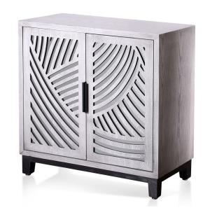 Sydney - 32 Inch Two-Door Open Wave Cabinet with Removable Shelf