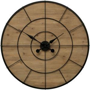 Wood Face - 36.25 Inch Wall Clock