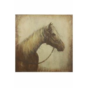 "Monotone Horse - 44"" Stretched Canvas Wall Art"