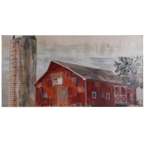 Barnside Silo - 72 Inch Canvas Wall Art