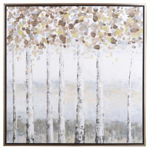 40 Inch Canvas Birch Tree Wall Art
