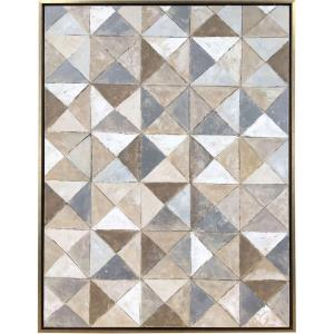 36 Inch Geometric Canvas Wall Art