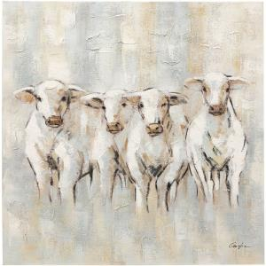 Farmland Four - 40 Inch Farm Cows Canvas Wall Print