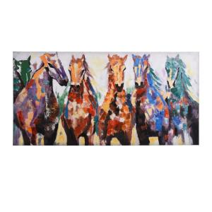 Race Ready Horses - 56 Inch Race Horse Canvas Wall Print