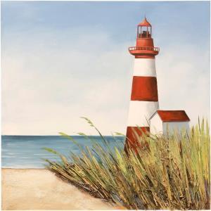 Lighthouse Signal Bay - 39.37 Inch Coastal Lighthouse Canvas Wall Art