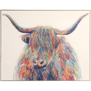 Horned Bull - 40 Inch Canvas Wall Print