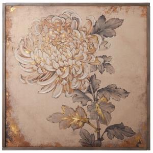 Chrysanthemum - 40 Inch Linen Print Wall Art