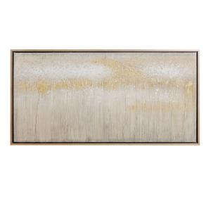 24 Inch Hand Painted Textured Abstract Canvas Wall Art