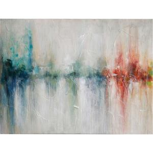 30 Inch Hand Painted Abstract Stretched Canvas Wall Art