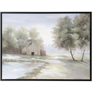 To Grandmothers House We Go - 48 Inch Framed Hand Painted Farmhouse Canvas