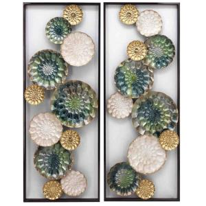 """Wreathed Composition II - 35.4"""" Wall Sculpture (Set of 2)"""
