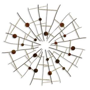 33.7 Inch Contemporary Metal Wall Sculpture