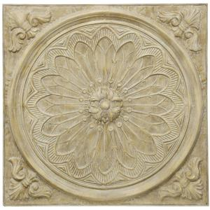 Natural Slate Medallion - 36.2 Inch Traditional Dimensional Wall Decor